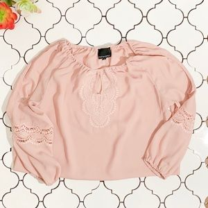 Cynthia Rowley Blush Cold shoulder Top